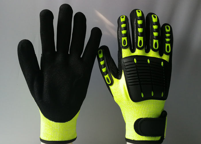 TPR Back Sewing Mechanic Work Gloves Eco Friendly Reducing Hand Fatigue